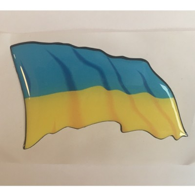 Наклейка силиконовая Флаг Украины