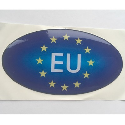 Наклейка силиконовая Евросоюз с надписью EU