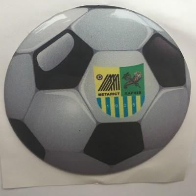 Наклейка силиконовая Футбольный мяч Металлист