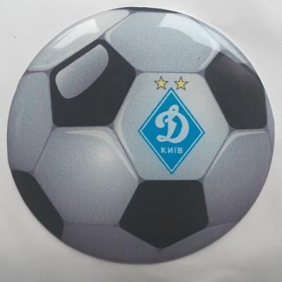 Наклейка силиконовая Футбольный мяч Динамо