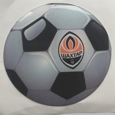 Наклейка силиконовая Футбольный мяч Шахтер
