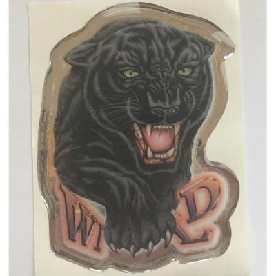 Наклейка силиконовая Пантера