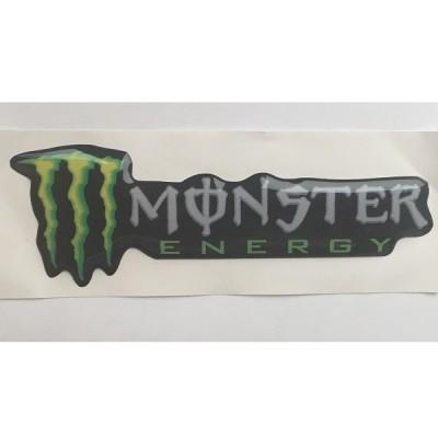 Наклейка силиконовая Monster Energy (длинная)
