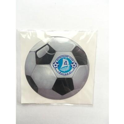 Наклейка силиконовая Футбольный мяч Днепр