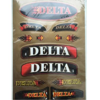 Набор наклеек Delta золото
