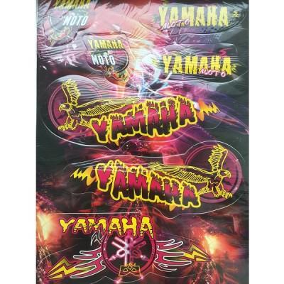 Набор наклеек Yamaha цветной №1