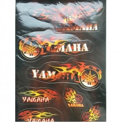 Набор наклеек Yamaha цветной №2
