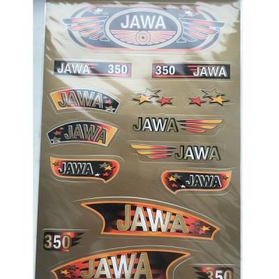 Набор наклеек Jawa золото №2