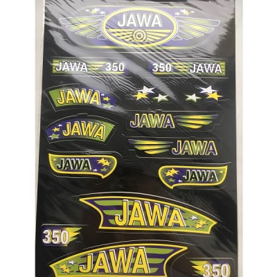 Набор наклеек Jawa черных №2