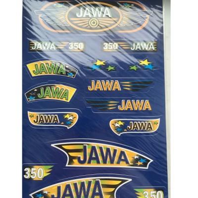Набор наклеек Jawa прямоугольная синих