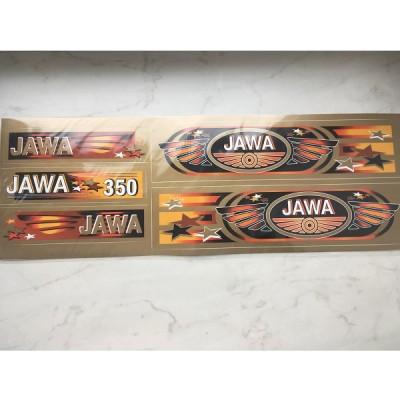 Набор наклеек Jawa золото