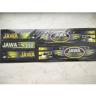 Набор наклеек Jawa черных
