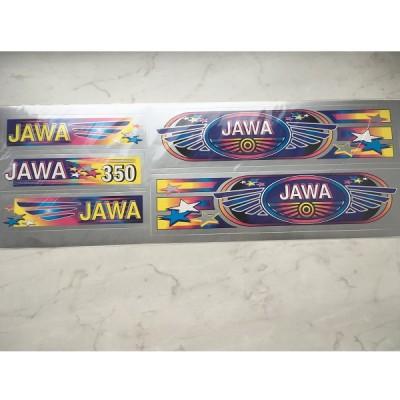 Набор наклеек Jawa серебро