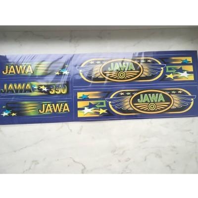 Набор наклеек Jawa синих
