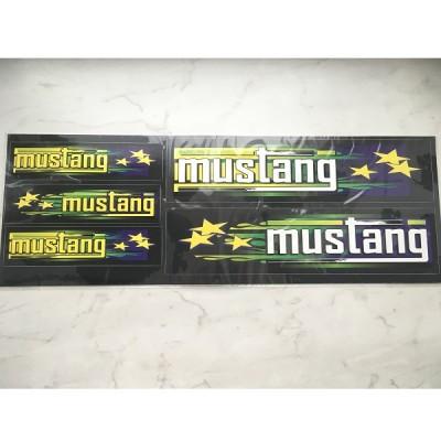 Набор наклеек Mustang черных