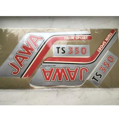 Большой набор наклеек Jawa серебро