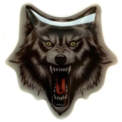 Наклейка силиконовая WOLF