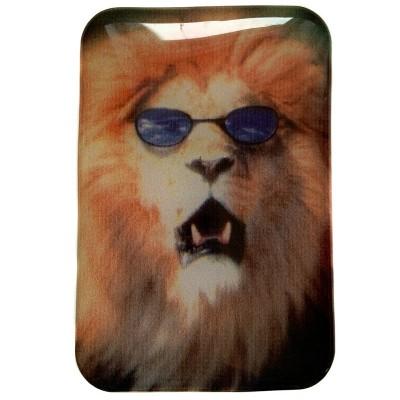 Наклейка силиконовая Лев в очках