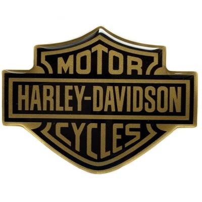 Наклейка силиконовая HARLEY-DAVIDSON (золотистая)