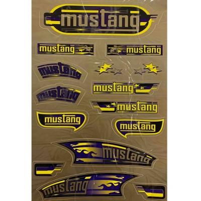 Наклейка MUSTANG (золото)