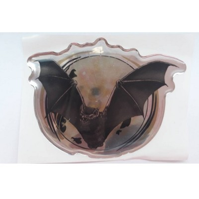 Наклейка силиконовая - летучая мышь (черная)