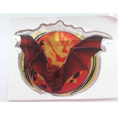 Наклейка силиконовая - летучая мышь (красная)
