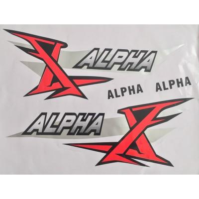 Наклейка бардачка Alpha