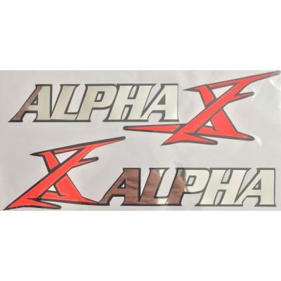 Наклейка бака Alpha