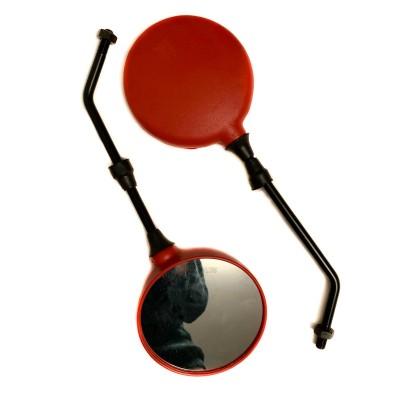 Зеркала диаметр М10 красные, круглые (пара) Ява