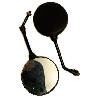 Зеркала Альфа диаметр М10 чёрные круглые (пара)