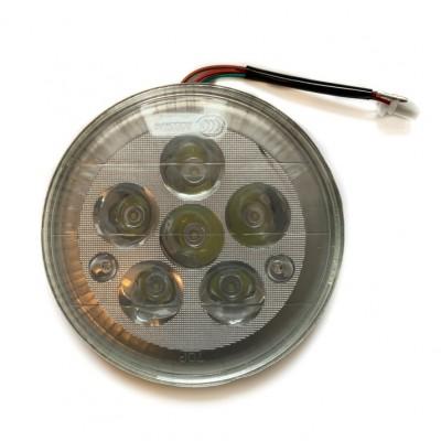 Вставка в фару круглая светодиодная 6 диодов (под китайскую фару)