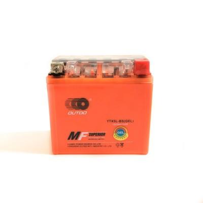 Аккумулятор для скутеров и мотоциклов YTX5L-BS (GEL) 12V5Ah10HR DUTDO
