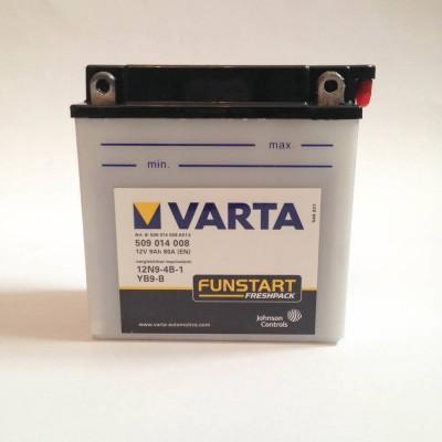 Аккумулятор для мотоциклов заливной (электролитный) 12V 9Ah80A (136.75.140)VARTA