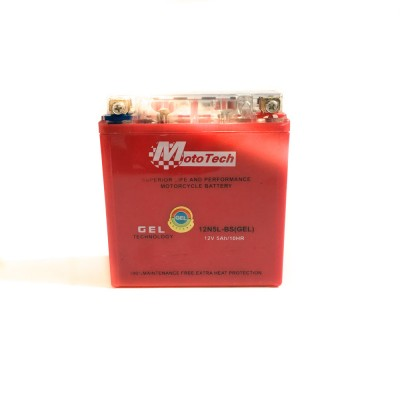 Аккумулятор АКБ Mototech 12v5Ah/10HR GEL (высокий) Aktiv 110