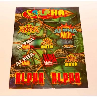 Наклейка Альфа цветная