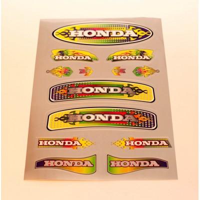 Наклейка Honda золотистая