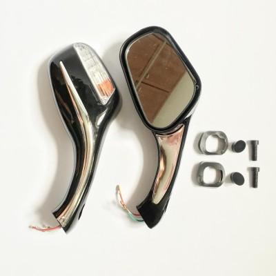 Зеркала мото, скутер с поворотами (черные)