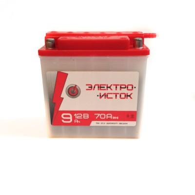 Аккумулятор мото 12В 9А электро исток (140.75.140) электролитный сухозаряженный
