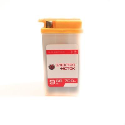 Аккумулятор мото 6В 9А электро исток (70.140.70) электролитный сухозаряженный